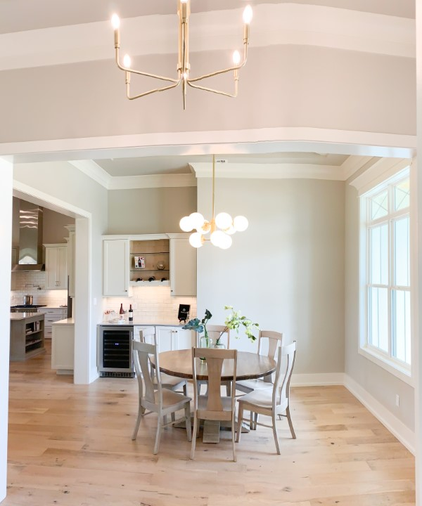 dining area in custom home built by Solis Builders, Carencro LA