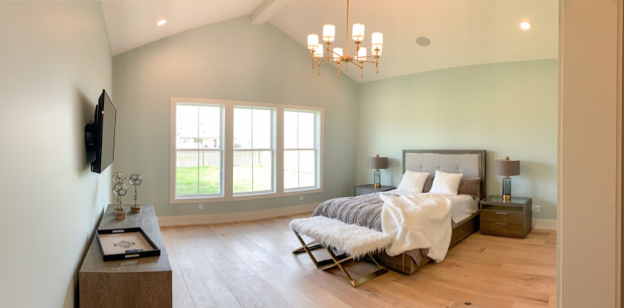 master bedroom in home built by Solis Builders, Carencro LA