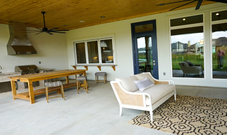 patio in home built by Solis Builders, Carencro LA